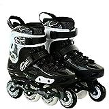 DSFGHE Einzelne Flache Schlittschuhschuhe der Erwachsenen Schlittschuhe Flache Einreihige Schuhe der Schuhe Inline-Skates-Rollschuhe,Black-40