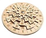 LOGICA Spiele art. EUCLIDE, UNGLAUBLICHES MATHEMATISCHES DENKSPIEL - Schwierigkeit: 4/5 EXTREM - Knobelspiel - Geduldspiel aus Holz