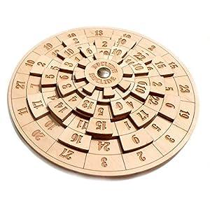 Logica Juegos Art. Euclidea – Rompecabezas Matemático – Dificultad Extrema 4/6 – Rompecabezas de Madera – Serie Euclide