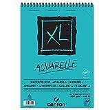 Canson Aquarellblock XL A4, 300g/qm, 30 Blatt, Block für Aquarelle und Nasstechniken, Tusche