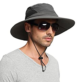 57f71ff7e74c4 EINSKEY Wide Brim Sun Hat Summer UV Protection Beach Hat Showerproof ...