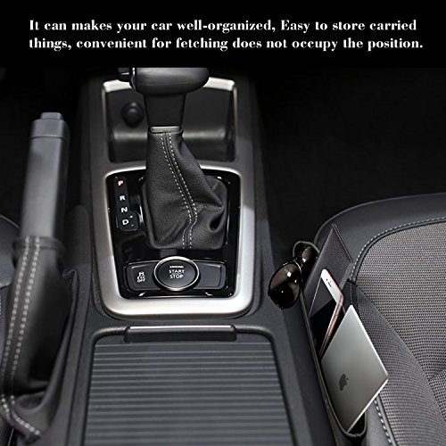 2PCS Universal Black Side Pocket Caddy Car Seat Slit Pocket Catcher Organizer