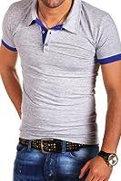 MT Styles - P-07 - T-shirt polo contrasté - coupe ajustée