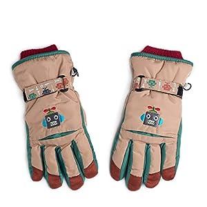 Unbekannt XIAOYAN Handschuhe Sporthandschuhe Kinder Ski wasserdicht Winddicht Rutschfeste Fahrradhandschuhe für 8-12 Jahre alt Bequem
