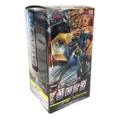 Pokemon Cartas Sun & Moon Reinforced Expansion Pack Caja 30 Packs + 3pcs Premium Card Sleeve Corea Ver TCG Full Metal Wall de Pokemon Korea