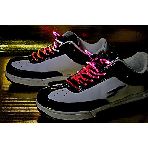 LED-Schnürsenkel leuchtende und blinkende Schnürsenkel Multicolor