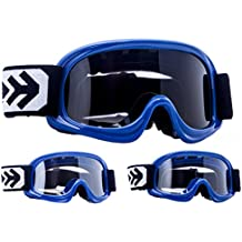 "Armor · AG-49 ""Blue"" (blue) · Gafas Cross · MX Moto-Cross motocicleta NINOS Moto Enduro Kids · (Black/Silver/Clear)"