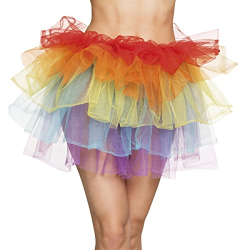 TH-MP Regenbogen Tüllrock Tutu Ballettkostüm Tüll TüTü bunt (Regenbogen Tutu Für Erwachsene)
