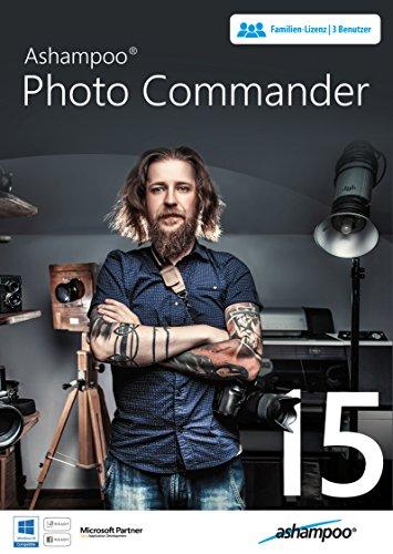 Photo Commander 15 - die ideale Bildbearbeitung und umfangreiches Werkzeug zur Fotobearbeitung für Windows 10/9.1/8/7 - Für 3 USER