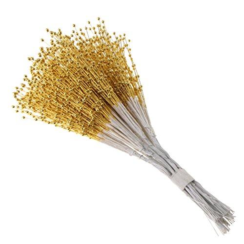 Homyl 100 Stems Perlen Bead Spray DIY Handwerk Hochzeit Bouquet Dekoration - - Strand Bouquet Hochzeit