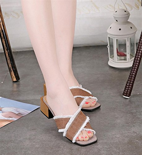 pengweiPanno donna con pantofole con sandali estivi 2