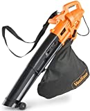 VonHaus 3 in 1 Leaf Blower, Garden Vacuum & Mulcher - 2600W - Large 35 Litre Collection Bag, 10:1 Shredding Ratio, Automatic Mulching Compacts Leaves in Bag with 10m Cable
