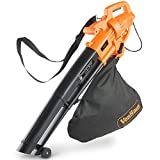 Picture Of VonHaus 3 in 1 Leaf Blower, Garden Vacuum & Mulcher - 2600W - Large 35 Litre Collection Bag, 10:1 Shredding Ratio, Automatic Mulching Compacts Leaves in Bag with 10m Cable