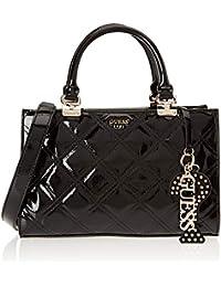 Guess - Status, Shoppers y bolsos de hombro Mujer, Negro (Black Shine/Bks), 29x20x13 cm (W x H L)