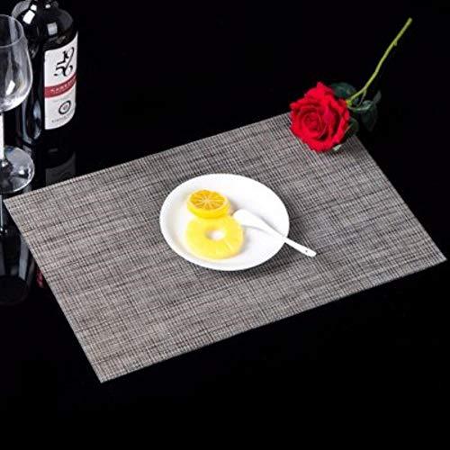 4 STÜCKE PVC Rechteck Coaster Dining Tischset Ständer Topf Trockenmatte Hitzebeständige Getränkehalter Tasse Kaffee Pad Einzelne Trockenmatten, Lila