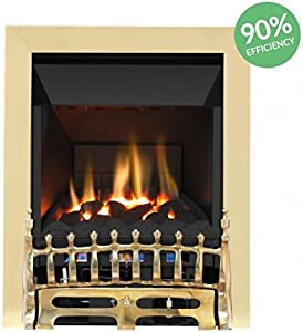 Broadly High Efficiency Gas Fire - Brass