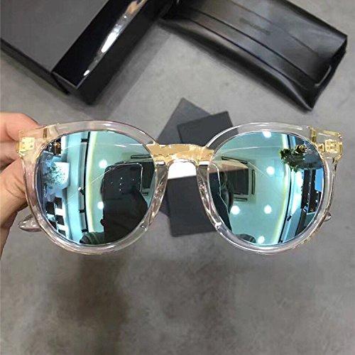 Unisex Sonnenbrille Für sanfte Monster-Sonnenbrille New Gentle man or Women Monster eyeware V brand Didi a c1(6m) sunglasses for Gentle monster sunglasses -transparent frame blue lensess