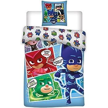 Polyester multi-Colour PJMasks Single Duvet Set Children Bedding