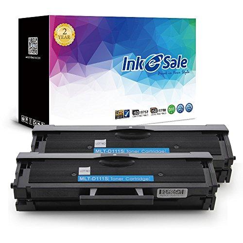 Preisvergleich Produktbild INK E-SALE 2x kompatibel Tonerkartuschen zu Samsung MLT-D111S MLTD111S D111S 111S für Samsung Xpress M2026/M2026W, M2070/M2070W, M2070F/M2070FW, M2022/M2022W Drucker schwarz, ca. 1.000 Seiten