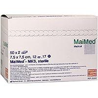 SCHLITZKOMPRESSEN 7,5x7,5 cm steril 12fach 100 St Kompressen preisvergleich bei billige-tabletten.eu