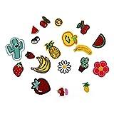 Flicken Aufbügelbilder Aufnäher Applikation Blumen Kirsch Honig Wassermelone und andere Stickerei kleine Patch-Sets