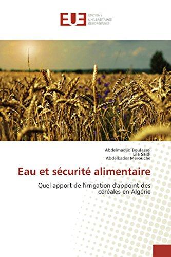 Eau et sécurité alimentaire par Abdelmadjid Boulassel
