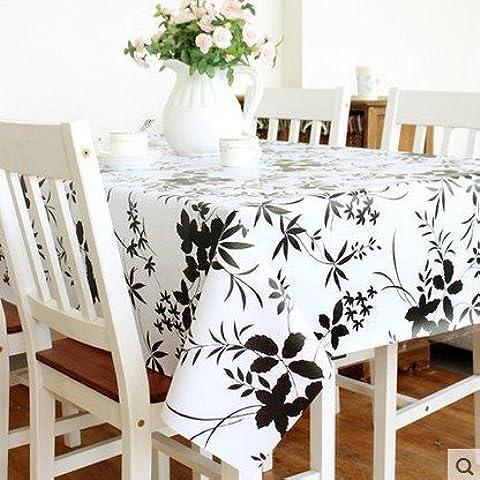 Nero impermeabile e antipolvere Vento Cinese e bambù antiolio Tavolino mat in PVC rettangolare tovaglie (Big Bamboo Plants)