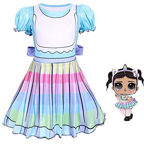 QYS Mädchen Kinder LOL Puppe Überraschung Prinzessin Kostüm Halloween Cosplay Kostüme Party - Sweetheart Prinzessin Kind Kostüm