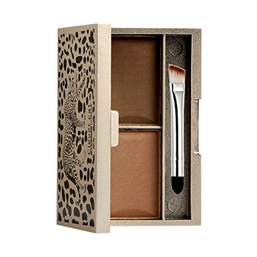 Eyebrow Powder - Clever cat Eyebrow Powder Eye Brow Palette Cosmetic Makeup Shading Kit With Brush Mirror by Clever cat