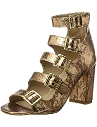Buffalo London Damen 316-5971-2 Metallic Snake Pu Knöchelriemchen