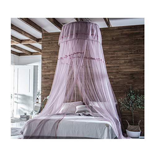 M-Home Moskitonetz for Twin, Full, Queen-Size-Bett, Große Moskitonetz Vorhänge, Baldachin for Betten, Runde (Color : C) - Queen-size-baldachin-bett