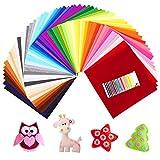 SOLEDI 60 farbige Filztuch geeignet für Nähen, Stoff Kunst, Stückeln, DIY 30 * 30 cm