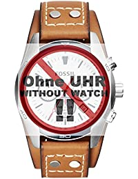 Fossil bande de montre de bracelet pour montre ch2986de rechange d'origine ch 2986Bracelet de Montre bracelet cuir 22mm Marron