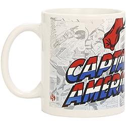 Semic Distribution SMUG015 Marvel Retro Serie 1 - Taza de cerámica, diseño de Capitán América