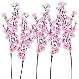 Pixnor 6pcs Peach Blossom simulazione fiori artificiali Fiori (rosa)