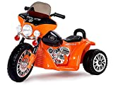 Harley Kindermotorrad Elektromotorrad Kinderfahrzeug Dreirad Kinder Polizei Motorrad in Orange/Schwarz