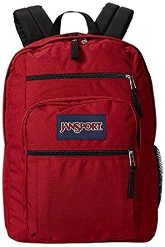 "JanSport estudiante grande mochila, Unisex, TDN79FL, Viking Red, 17.5""H x 13""W x 10""D"
