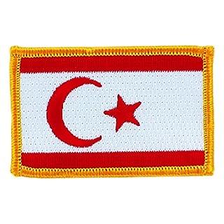 Patch Aufnäher bestickt Flagge Nordzypern zum Aufbügeln Abzeichen Backpack