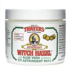 Thayers Thayers Original Witch Hazel Astringent Pads With Aloe Vera Formula - 60 Ct
