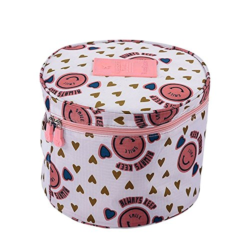 Zylinder Prints Storage Bag Reise Gepäck Organizer BH Unterwäsche Tasche Kosmetik Make-up Tasche Toiletry Fall Pocket tragbar Home Organisation für Frauen Damen weiß