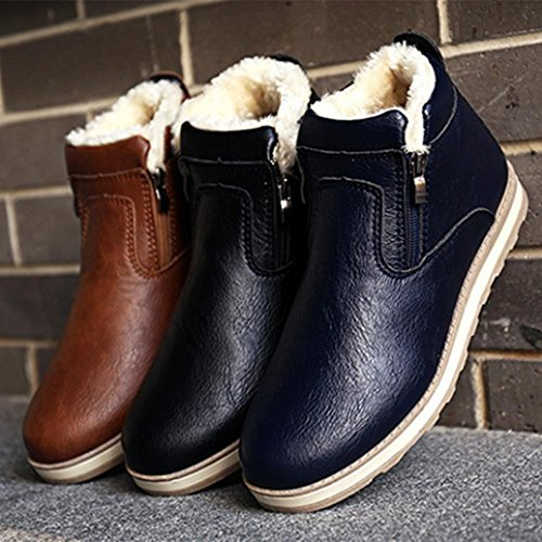 Bottes Baskets Basses Mode Hommes, QinMM Hiver Sneaker Chaud Occasionnel Chaussures Mode Peluche Neige