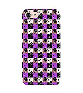 99Sublimation Animated Design Lot of Cat Mouth 3D Hard Polycarbonate Back Case Cover for Apple iPhone 7