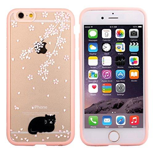 Phone case & Hülle Für iPhone 6 / 6s, Kirschblüten-Blumenmuster Transparente Kunststoff-Schutzhülle ( SKU : IP6G0689J ) IP6G0689C