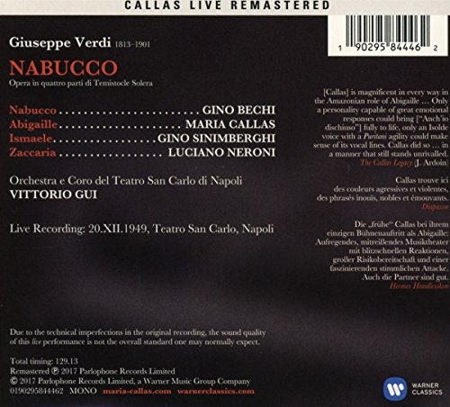 Verdi: Nabucco (Napoli, 20/12/1949)