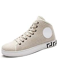 Yajie-shoes Zapato de la Manera de los Hombres Zapatos de Ocio de tacón Plano