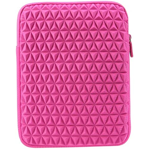 EveCase Funda Universal Vertical de Neopreno Rosa con Cremallera para Laptops/ Chromebooks/ Ultrabooks/ Notebook PCs /Tablets de 9.7