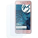 Bruni Schutzfolie für Samsung Galaxy Grand Prime Plus Folie - 2 x glasklare Displayschutzfolie