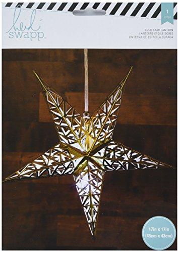 American Crafts Heidi Swapp 5 Star Lanterne en papier aluminium doré 43 cm, acrylique, multicolore