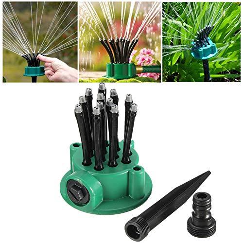 Rotary Sprinkler (MJLXY Sprinkler - Garden Lawn Sprinkler Irrigation System, mit 12 Sprühdüsen Sprinkler Head, Garden Sprinkler Rotary Arm Lawn, Garden Water Sprinkler Rasensprenger)