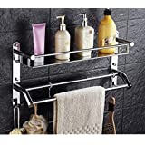 Keepwell Keepwwell Stainless Steel Multi-use Shelf/Bathroom Shelf/Kitchen Shelf/Bathroom Stand/Bathroom Rod/Bathroom…